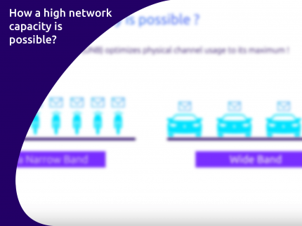 High network capacity