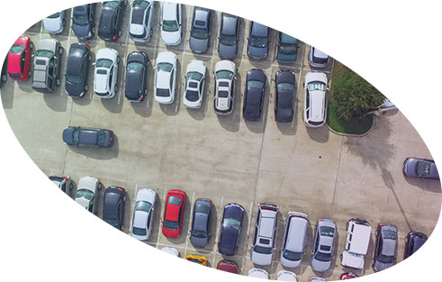 cars parked